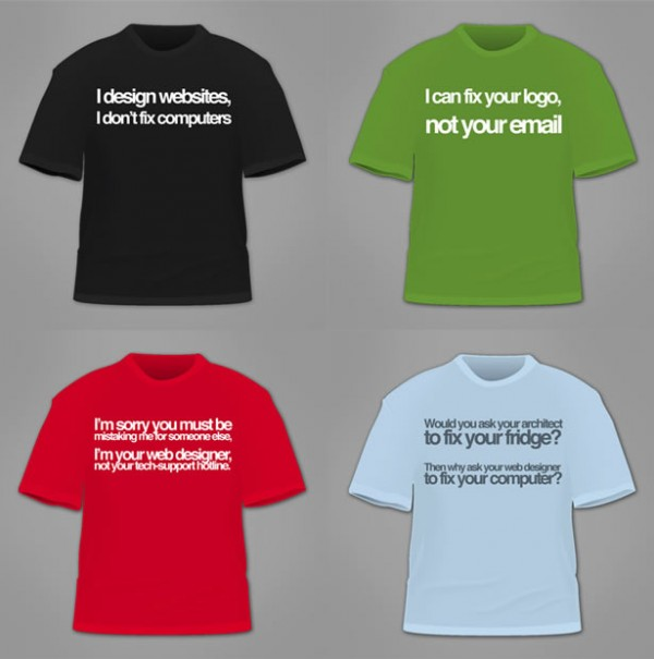 camisetas para informáticos