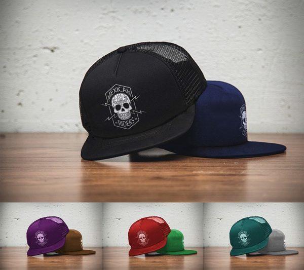 Distintos tipos de gorras planas de colores personalizadas