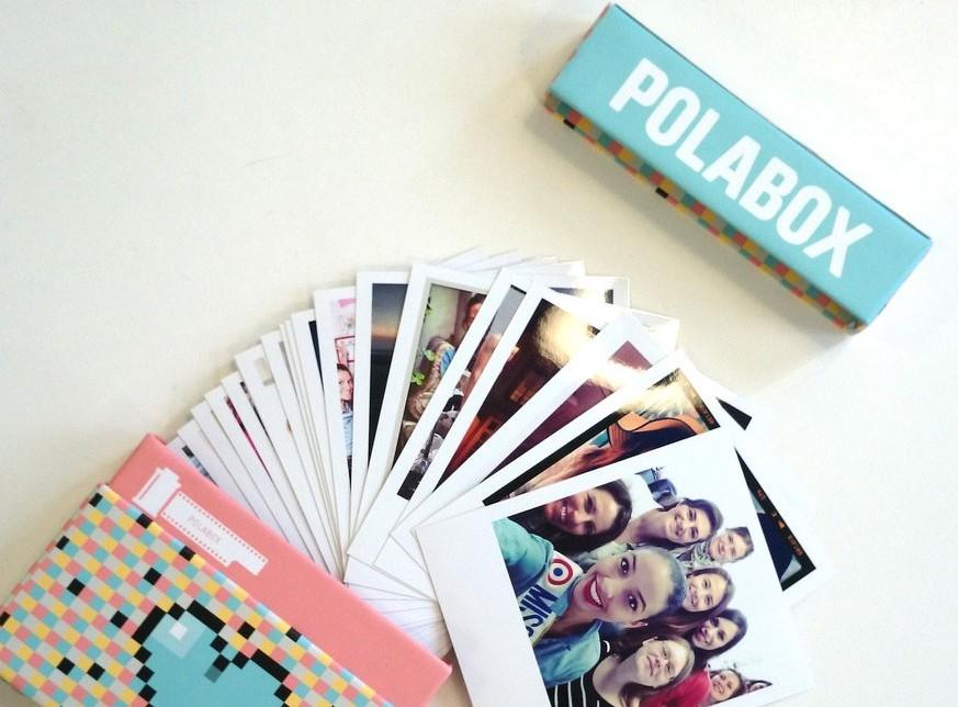 Cajita de regalo personalizada para guardar fotos Polaroid
