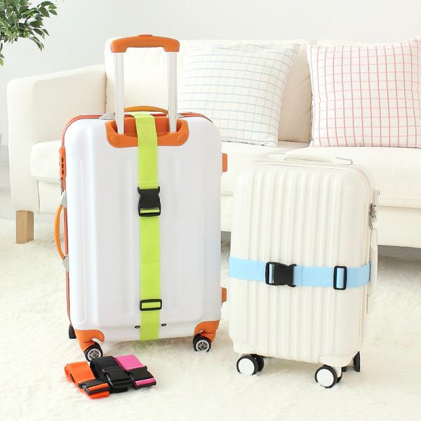 Maletas trolley personalizadas con cintas de seguridad en colores flúor