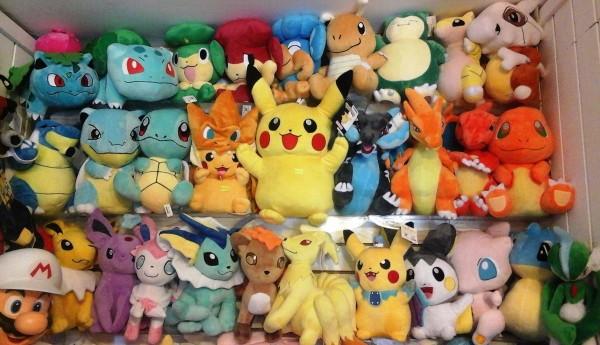 Peluches publicitarios de Pokémon