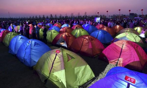 Tiendas de campaña festival