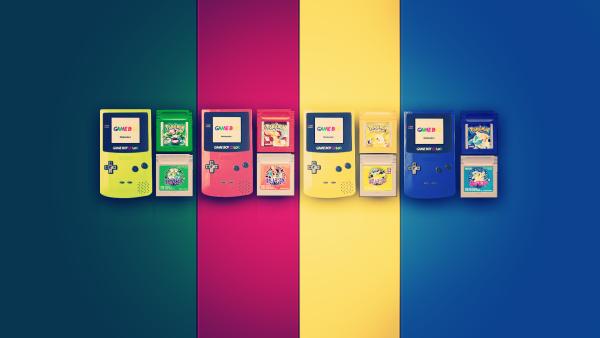 Gameboy edición Pokémon verde, rojo, amarillo y azul