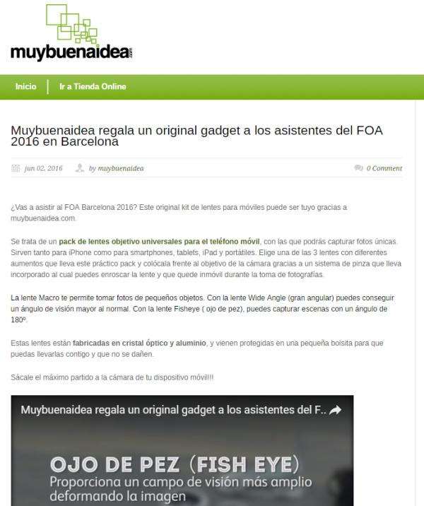 Blog Muybuenaidea