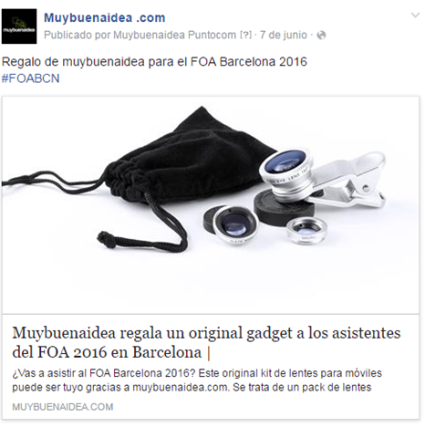 Anuncio Facebook Muybuenaidea
