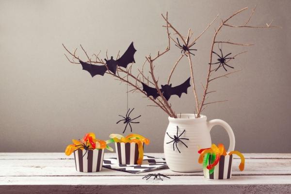 Decoración de Halloween con chucherías
