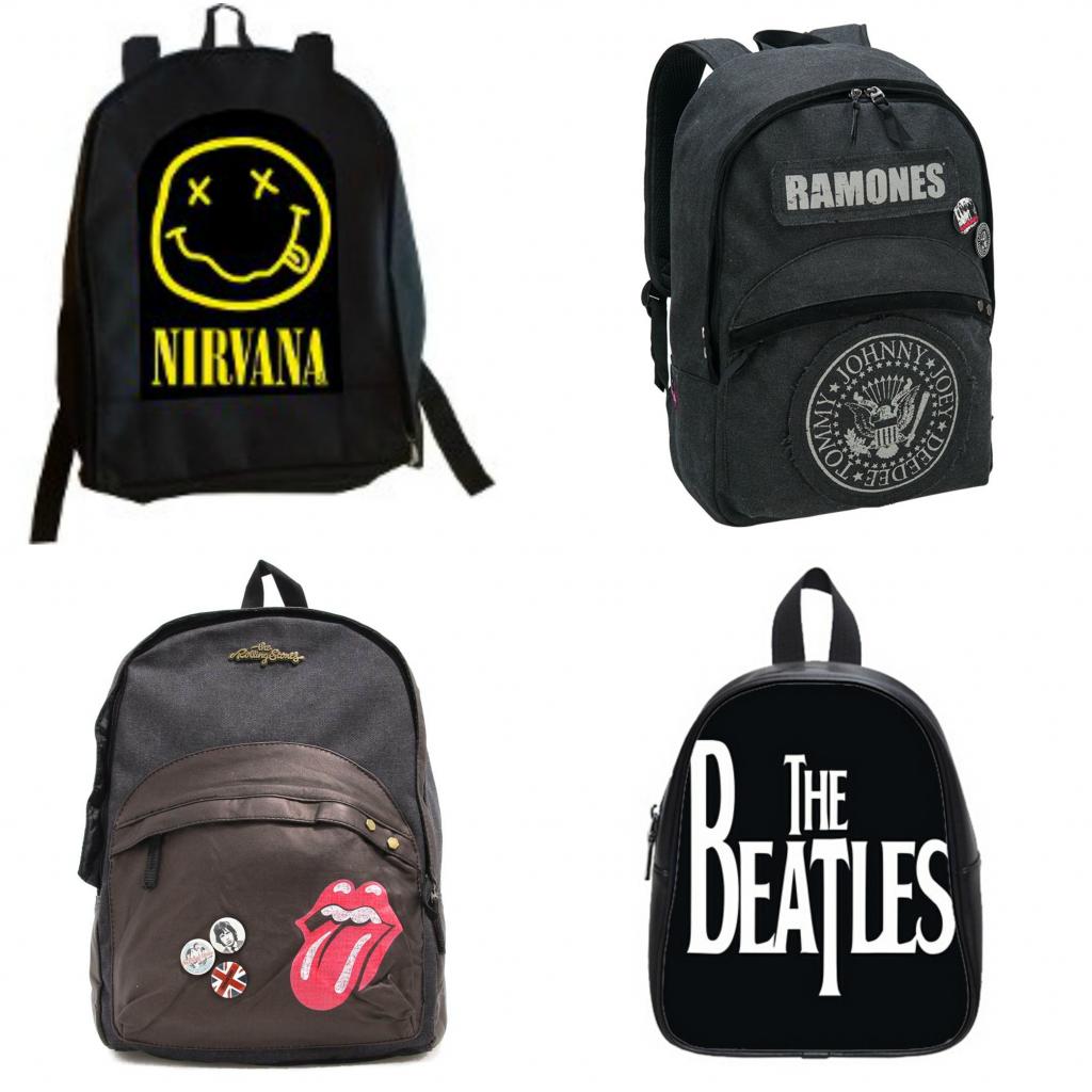 mochilas de bandas musicales
