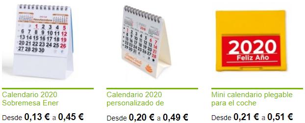 Selección de calendarios publicitarios