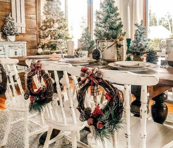 Decoración navideña para sillas