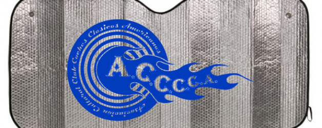 Parasoles publicitarios para club de coches clásicos americanos
