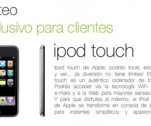 [FINALIZADO] Sorteamos este ipod touch (sólo clientes).
