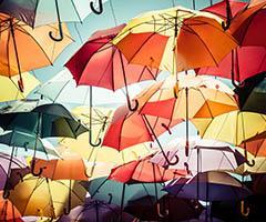 Paraguas plegables publicitarios