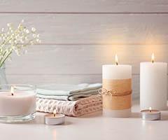 Ambientadores de hogar con logo y velas para publicidad