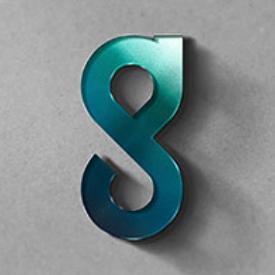Llavero circular azul