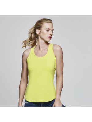 Camisetas técnicas roly nadia mujer de algodon con logo imagen 1