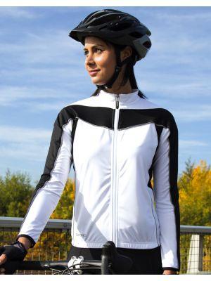 Equipaciones deportivas result top ciclismo manga larga mujer con impresión imagen 3
