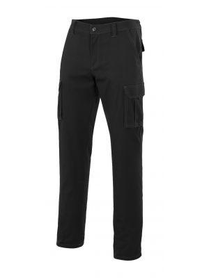 Pantalones de trabajo velilla multibolsillos con bolsillos de fuelle de algodon con impresión vista 1