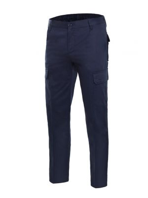 Pantalones de trabajo velilla multibolsillos de 100% algodón con logotipo imagen 1