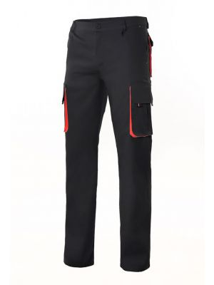 Pantalones de trabajo velilla bicolor multibolsillos 103004 de algodon vista 1