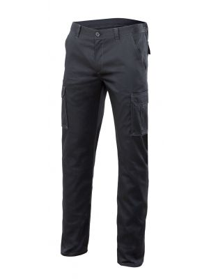 Pantalones de trabajo velilla stretch multibolsillos 103005s de algodon con impresión vista 1