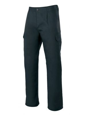 Pantalones de trabajo velilla forrado multibolsillos de algodon con impresión vista 1