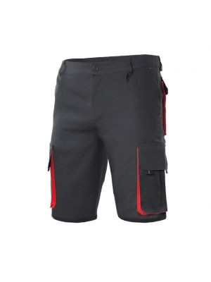 Pantalones de trabajo velilla bicolor multibolsillos de algodon con impresión vista 1