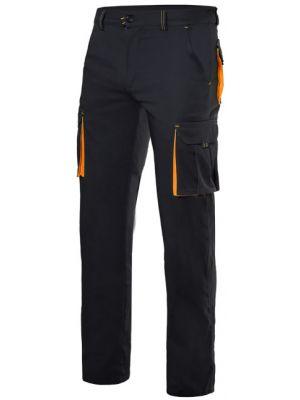 Pantalones de trabajo velilla stretch bicolor multibolsillos de poliéster con impresión vista 1