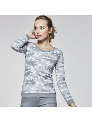 Sudaderas básicas roly malone mujer de algodon con impresión imagen 1