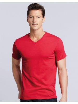 Camisetas manga corta gildan premium cuello v con publicidad vista 1