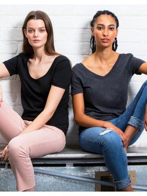 Camisetas manga corta mantis orgánica scoop mujer para personalizar vista 1
