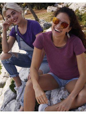 Camisetas manga corta fruit of the loom valueweight corte femenino con publicidad imagen 1
