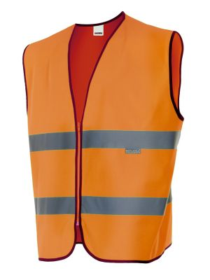 Chalecos reflectantes velilla profesional alta visibilidad de poliéster con impresión vista 1