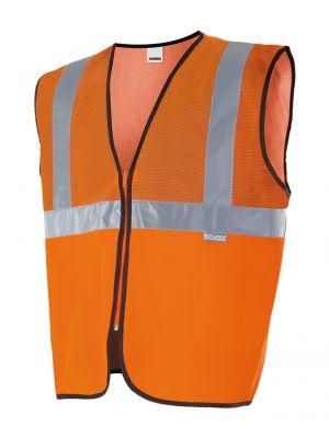 Chalecos reflectantes velilla profesional con tejido de rejilla alta visibilidad de poliéster con impresión vista 1