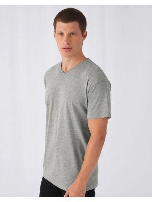 Camisetas personalizadas b&c exact v neck con publicidad vista 1