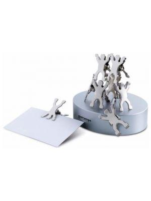 Material oficina castillo base magnética con clips de metal con impresión vista 1