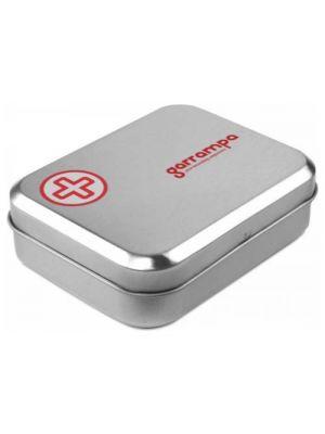 Automóvil succor caja kit de primeros auxilios de tin con impresión vista 1