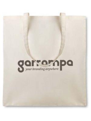 Regalos ecológicos organic cottonel bolsa algodón orgánico 105 gr de 100% algodón ecológico con publicidad vista 1