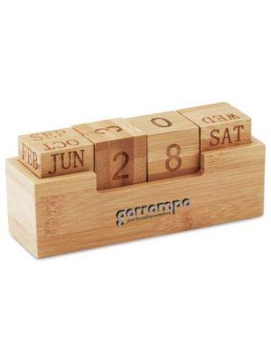 Calendarios publicitarios karenda de bambú ecológico vista 1