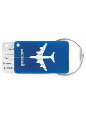 Identificadores de maletas fly de metal con impresión vista 1