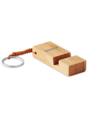Soportes móviles trineu de bambú ecológico con publicidad vista 1