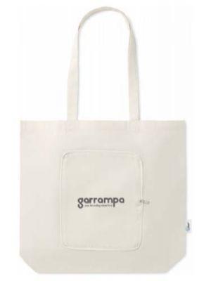 Bolsas compra zigzags de varios materiales ecológico con publicidad vista 1