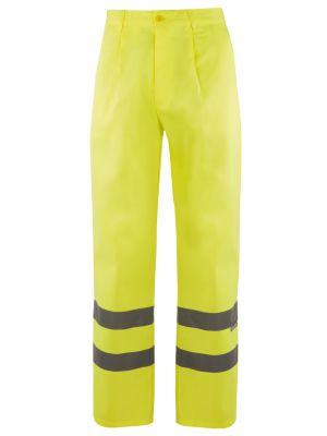 Pantalones reflectantes velilla alta visibilidad 160 de algodon con impresión vista 1