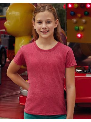 Camisetas manga corta fruit of the loom valueweight niña con logo vista 1