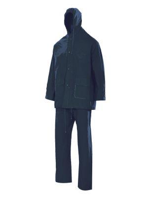 Chubasqueros y cortavientos velilla traje de lluvia dos piezas con capucha de pvc vista 1
