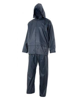 Chubasqueros y cortavientos velilla traje de lluvia dos piezas con capucha oculta de poliéster vista 1