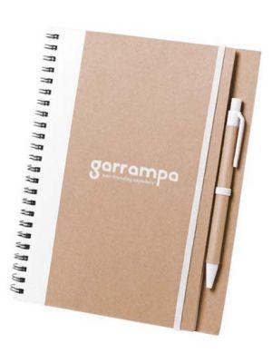 Cuadernos con anillas tunel de cartón ecológico con logo vista 1