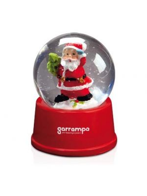 Navidad bola sasky de cristal con logo vista 1