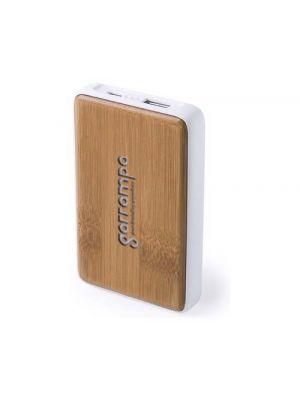 Baterias power bank harleim de bambú ecológico con publicidad vista 1