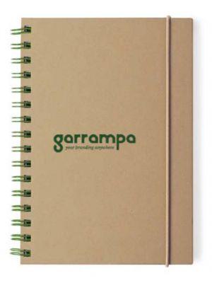 Cuadernos con anillas zubar de cartón ecológico con impresión vista 1
