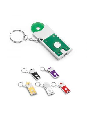 Llaveros con moneda mate de led con logo imagen 1